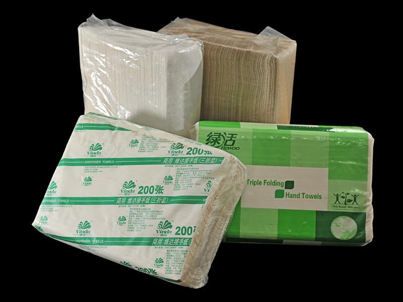6) 摺疊式抹手紙 (環保漿,全木漿)